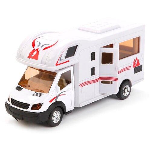 цена Фургон ТЕХНОПАРК Дом на колёсах (1020-R) 17 см белый онлайн в 2017 году