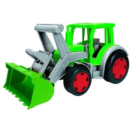 Трактор Wader Гигант Фермер с ковшом (66015) зеленый/серый