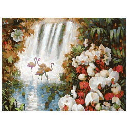 Купить Белоснежка Картина по номерам Райский сад 30х40 см (093-AS), Картины по номерам и контурам