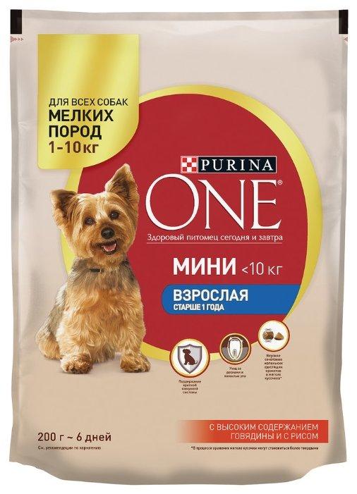 Корм для собак Purina ONE говядина 200г (для мелких пород)