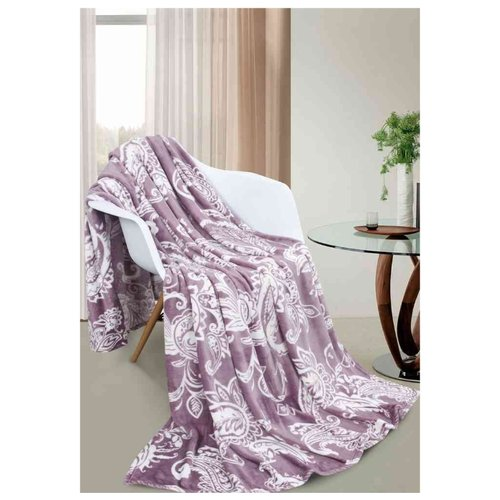 цена Покрывало Guten Morgen Варанаси, 150 х 200 см, фиолетовый/белый онлайн в 2017 году