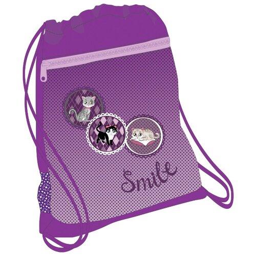 Купить Belmil Мешок-рюкзак для обуви Pussycat (336-91/673) фиолетовый, Мешки для обуви и формы
