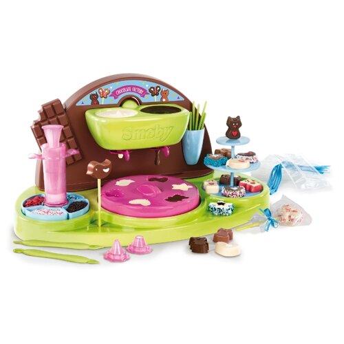 Купить Кондитерская фабрика Smoby Chef Chocolate Factory 312102 зеленый/коричневый/розовый/голубой, Детские кухни и бытовая техника