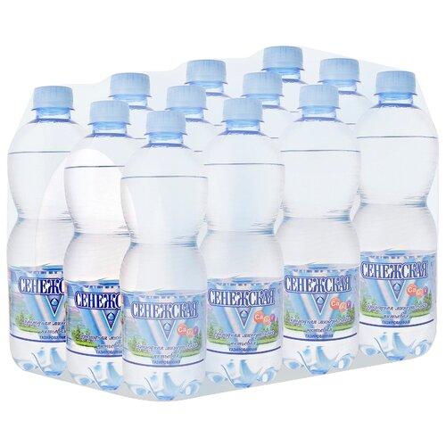 Вода минеральная Сенежская газированная, ПЭТ, 12 шт. по 0.5 лВода<br>