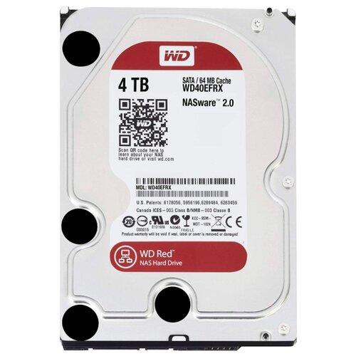Жесткий диск Western Digital WD Red 4 TB (WD40EFRX)Внутренние жесткие диски<br>