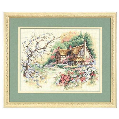 Купить Dimensions Набор для вышивания крестиком Домик в уединении 36 х 28 см (13687), Наборы для вышивания
