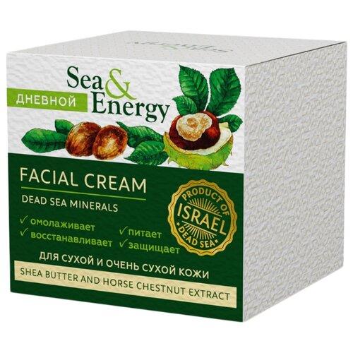 Купить Sea & Energy Крем дневной питательный для оживления сухой и обезвоженной кожи лица с маслом ши и экстрактом конского каштана, 50 мл