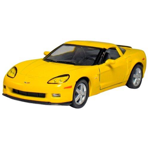 Легковой автомобиль Kinsmart 2007 Chevrolet Corvette Z06 (KT5320W) 1:36 12 см желтый