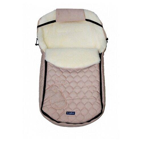 Купить Конверт-мешок Womar S61 Giraffe-melange fabric quilted embroidery в коляску 95 см бежевый, Конверты и спальные мешки