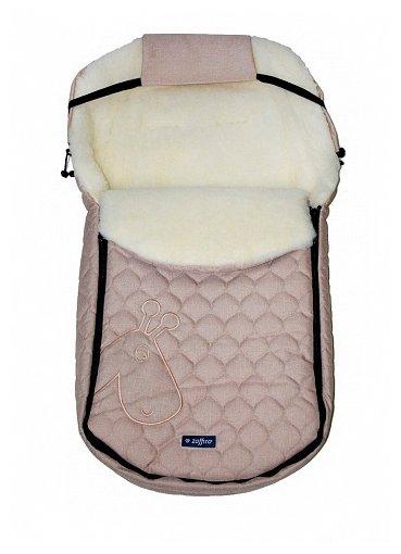 Конверт-мешок Womar S61 Giraffe-melange fabric quilted embroidery в коляску 95 см