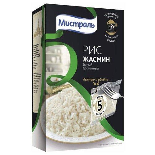 Рис Мистраль Жасмин белый ароматный шлифованный длиннозерный 400 гРис<br>