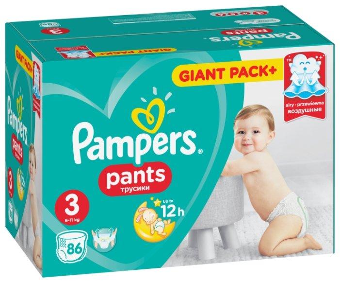 Pampers трусики Pants 3 (6-11 кг) 86 шт.