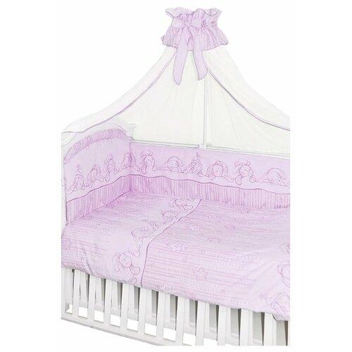 Купить Золотой Гусь комплект Зая-Зай (7 предметов) розовый, Постельное белье и комплекты