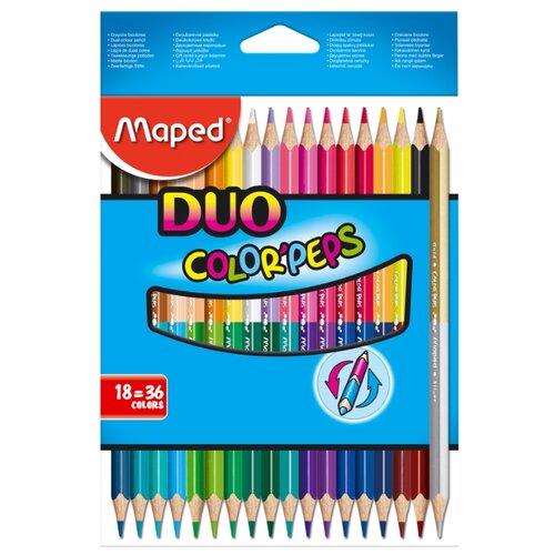 Купить Maped Цветные карандаши двусторонние Color Peps Duo 36 цветов 18 штук (829601)