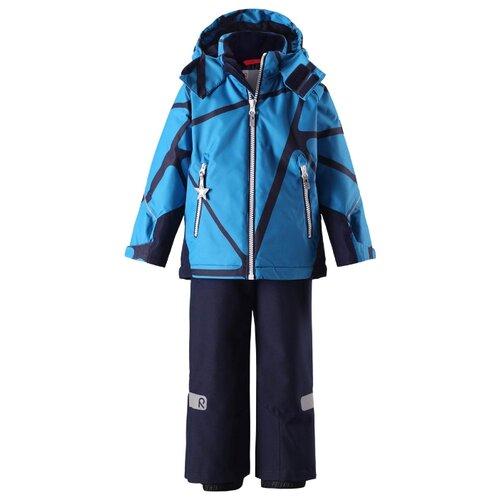 Комплект с полукомбинезоном Reima размер 92, голубой/синий, Комплекты верхней одежды  - купить со скидкой