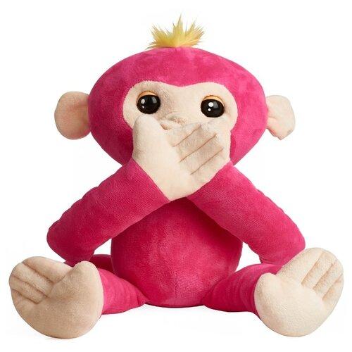 Купить Интерактивная мягкая игрушка WowWee Fingerlings Hugs Обезьянка-обнимашка розовый, Роботы и трансформеры