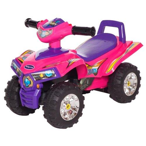 Каталка-толокар Baby Care Ready Set Out (551) со звуковыми эффектами розовый/фиолетовыйКаталки и качалки<br>