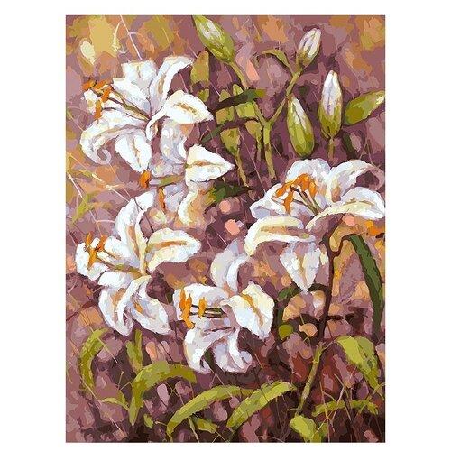 Купить Белоснежка Картина по номерам Нормандские лилии 30х40 см (180-AS), Картины по номерам и контурам