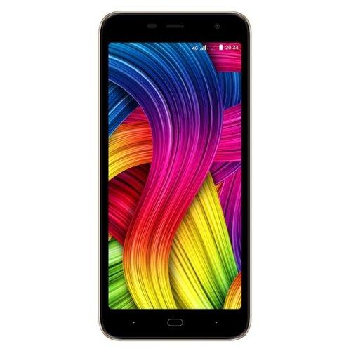 Смартфон DIGMA LINX BASE 4G золотистый смартфон