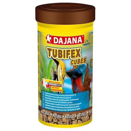 Сухой корм Dajana Pet Tubifex Cubes для рыб 250 мл 30 г
