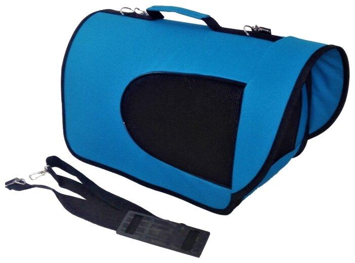 Переноска-сумка для кошек и собак LOORI Z3489/Z8159 40х25х26 см синий
