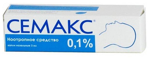 Семакс капли наз. 0,1% 3мл №1