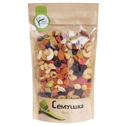 Смесь орехов, сухофруктов и цукатов Семушка орехи с цукатами 250 гСмеси из орехов и сухофруктов<br>