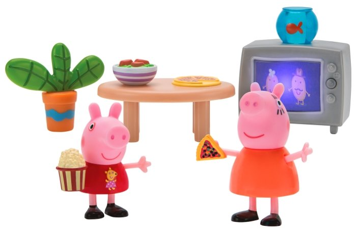 Игровой набор PEPPA PIG Пеппа и Мама смотрят фильмы