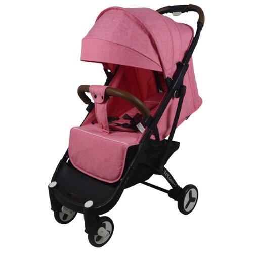 Прогулочная коляска Yoya Plus 3 (дожд., москит., подстак., бампер, сумка-чехол, бамбук. коврик, корзина д/пок, ремешок на руку, накидка на ножки) pink/black frame, цвет шасси: черный