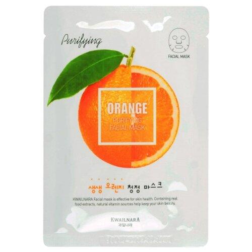 Welcos Kwailnara освежающая тканевая маска с экстрактом апельсина, 20 млМаски<br>