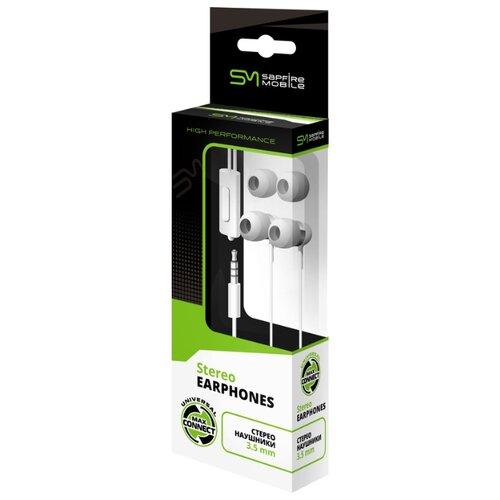 Наушники SAPFIRE SAM-0916 whiteНаушники и Bluetooth-гарнитуры<br>