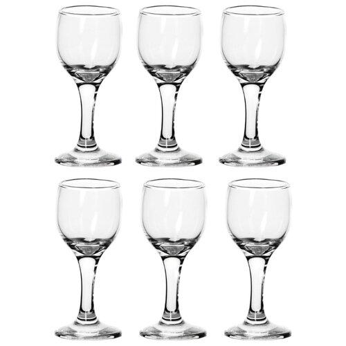 Набор рюмок Pasabahce Bistro 60 мл, 6 шт набор фужеров для шампанского pasabahce bistro цвет прозрачный 275 мл 6 шт