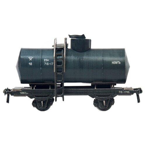 Сборная модель Умная Бумага Двухосная цистерна 25 м3 нефть (черная) (386-2) 1:87 сборная модель умная бумага двухосная цистерна 25 м3 нефть черная 386 2 1 87