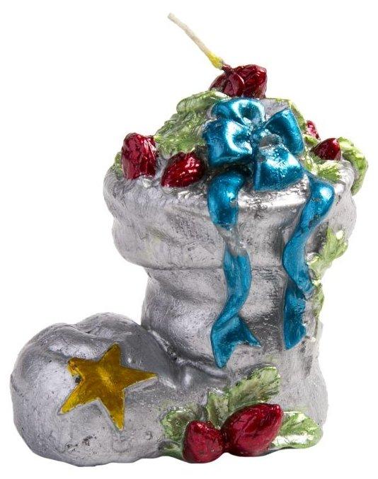 Свеча Феникс Present новогодняя Сапожок с подарками (78333 / 78334 / 78335)