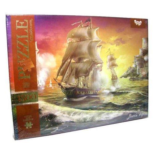 Купить Пазл Danko Toys Морской бой 1 (C1500-02-09), 1500 дет., Пазлы