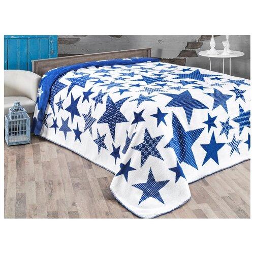 Плед KARNA STARS 180x240 см, голубой плед полутораспальный karna palma 160 220 см бежевый