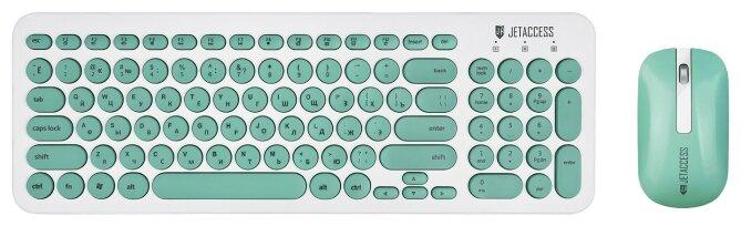 Jet.A Клавиатура и мышь Jet.A Slim Line KM30W White-Turquoise USB