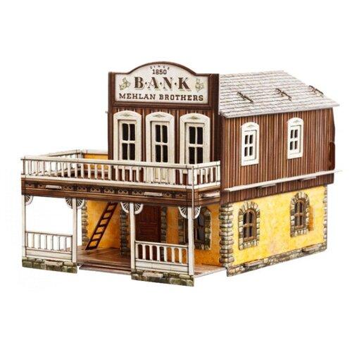 Сборная модель Умная Бумага Дикий Запад Банк (469) 1:56