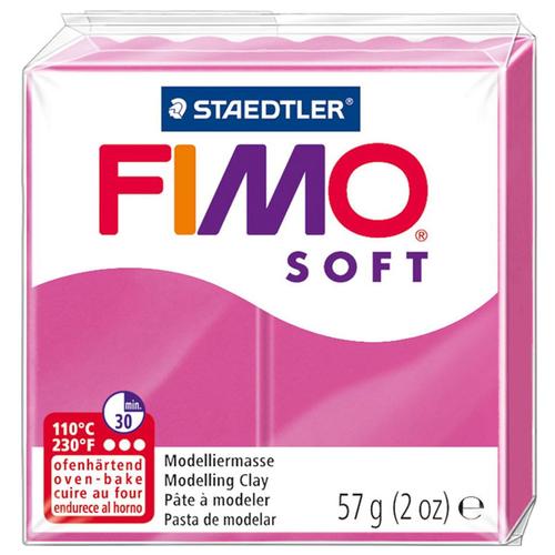 Купить Полимерная глина FIMO Soft запекаемая малиновый (8020-22), 57 г, Глина