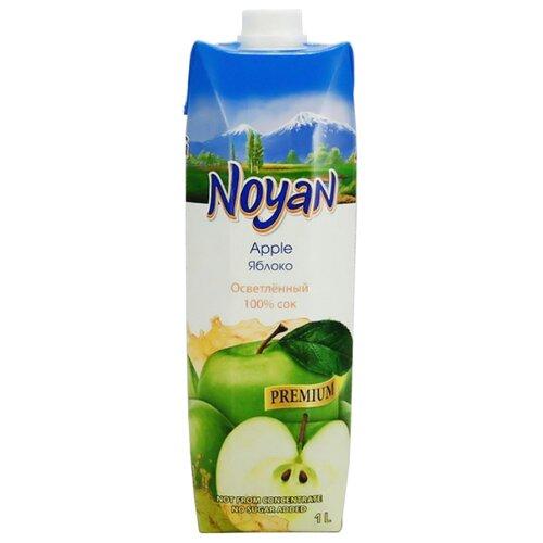 Сок Noyan Яблоко, осветленный, с крышкой, без сахара, 1 л noyan яблочный сок premium 200 мл