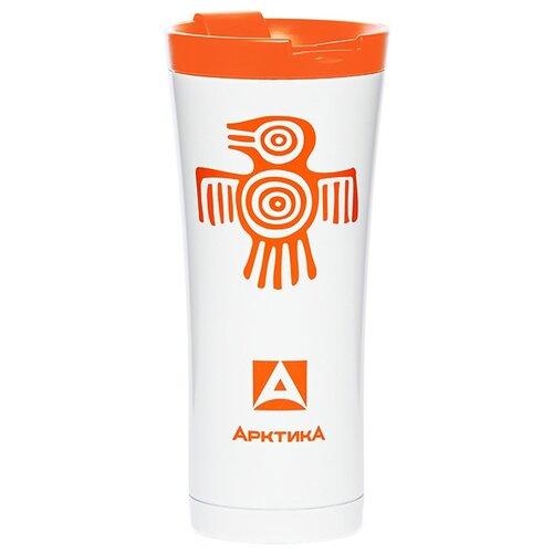 Термокружка Арктика 410-500 (0,5 л) белый/оранжевыйТермосы и термокружки<br>