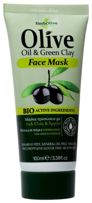 HerbOlive Маска для лица с оливковым маслом и глиной