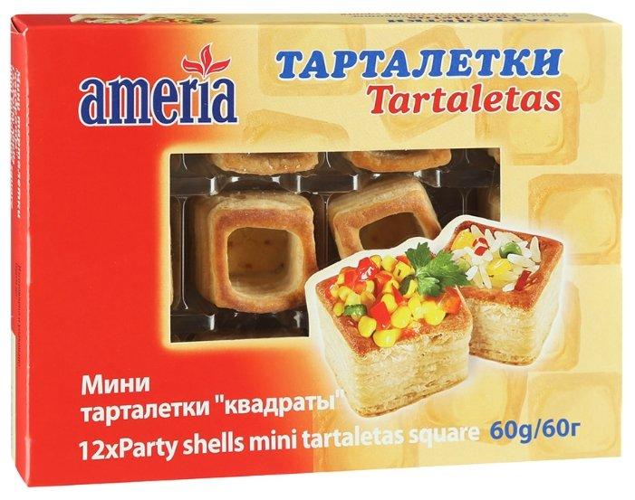 Тарталетки мини Ameria Квадраты 60г (12 штук в упаковке)