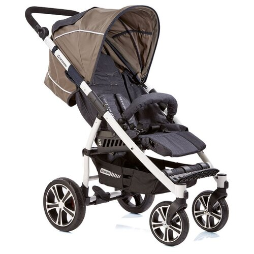 Купить Прогулочная коляска Gesslein S4 Air+ 353000 jeans/schlamm, Коляски