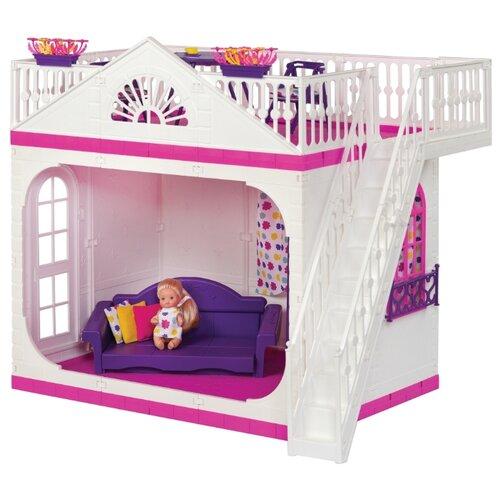 Купить ОГОНЁК Кукольный домик Зефир С-1404, белый/розовый, Кукольные домики