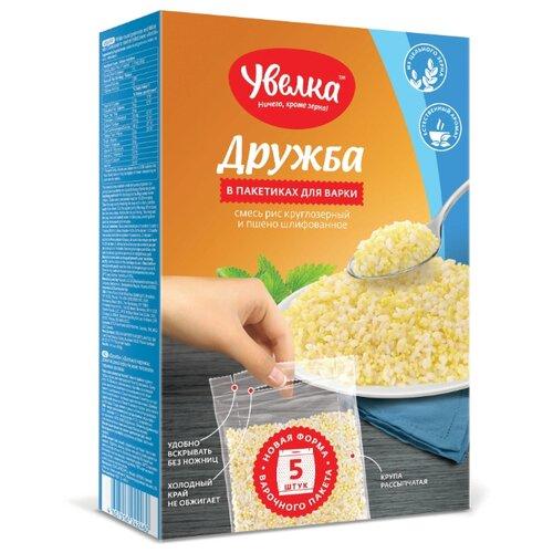 алтайская сказка смесь круп гречка рис в пакетах для варки 400 г 5х80 г Увелка Смесь круп Дружба рис и пшено 400 г