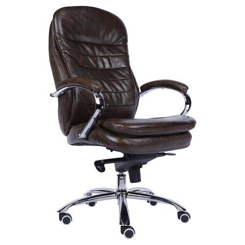 Фото - Компьютерное кресло Everprof Valencia M для руководителя, обивка: натуральная кожа, цвет: коричневая кожа компьютерное кресло everprof drift m для руководителя обивка натуральная кожа цвет коричневый