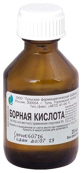 Борная кислота 3% 25мл