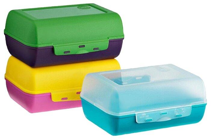 EMSA Набор ланч-боксов Variabolo прозрачный/желтый/зеленый/голубой/розовый/фиолетовый