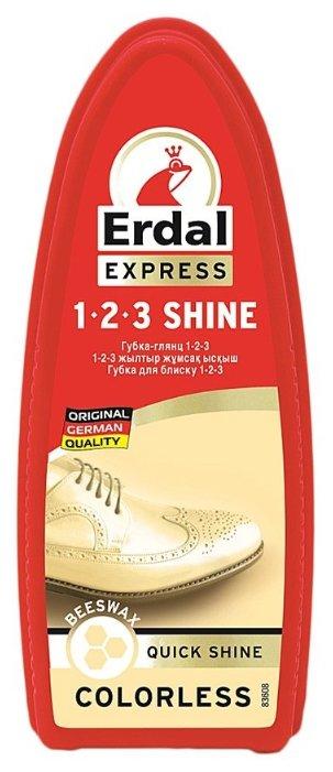 Erdal Губка-глянц 1-2-3 бесцветный